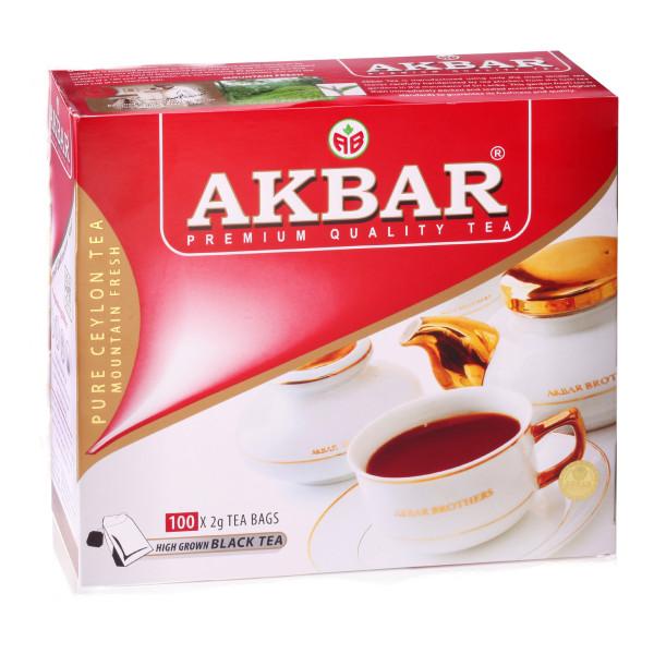 Чай Akbar Black tea пакетированный 100x2гр