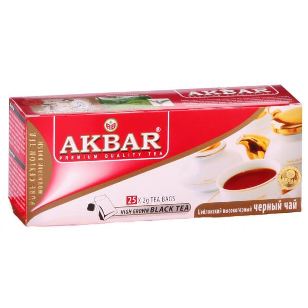 Чай Akbar черный пакетированный 25x2гр