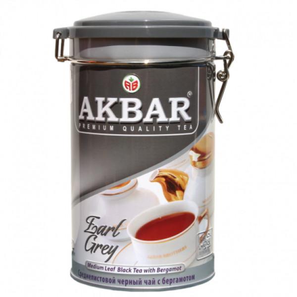 Чай Akbar Earl Grey ж/б 225гр