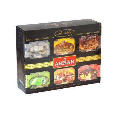 Чай Akbar Classic Collection подарочный набор в индивидуальных конвертиках из фольги 60х2г