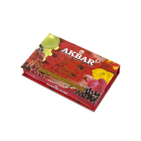 Чай Akbar Fruit Fiesta подарочный набор в индивидуальных конвертиках из фольги 80х2г